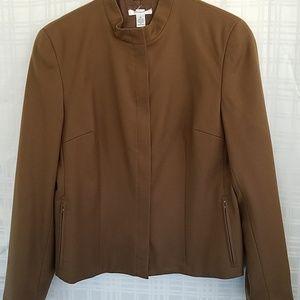 Talbots brown 100% wool jacket blazer 10